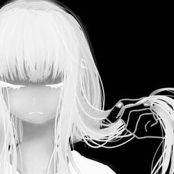 White girl by blank-black