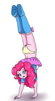 Pinkie pie - hand stand by sumin6301