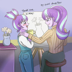 Starlight glimmer - Mom and daughter by sumin6301