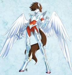 Anthro Bronzesaint Pegasus by Edheloth