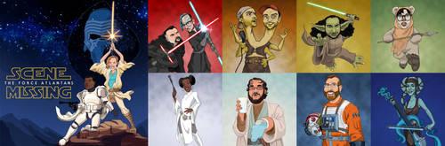 Star Wars art for Scene Missing by borogove13