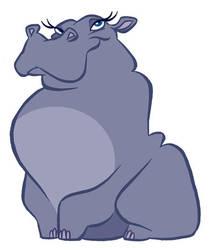 A hippopotamus by borogove13