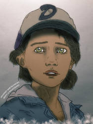 Sketch Clementine (Colored) 1 by RandyRhoads97