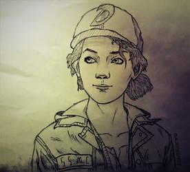 Sketch Clementine #4 by RandyRhoads97