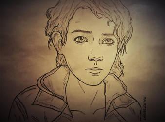 Sketch Clementine #5 by RandyRhoads97