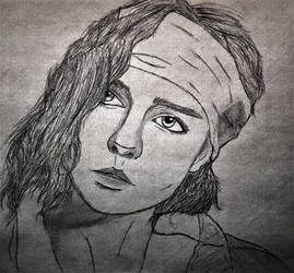 Clementine Cosplay Drawing by RandyRhoads97