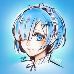 Re:Zero Rem by Hyuei