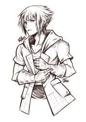 Kingdom Hearts 3 - Riku BW by Hyuei