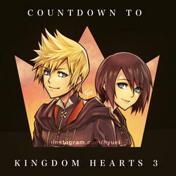 KH 3 Countdown : Roxas  Xion by Hyuei