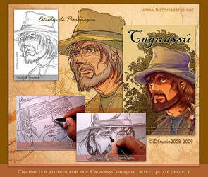 Studies for a graphic novel by Rajabally