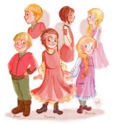 Ukrainian children by Ermy