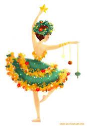 Christmas Tree Ballerina by Ermy