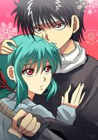SS - Hiei and Yukina by akayashi