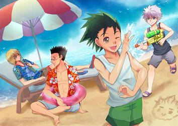 HxH - Summer time! by akayashi