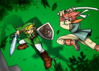 Link vs Chrono by Matarael