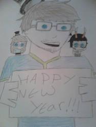 HAPPY NEW YEAR EVERYONE!!! by Sleepy-Cartoons