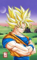 Goku SSJ2 Pose by SnaKou