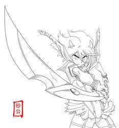 Matoi Ryuko - Lineart by SnaKou