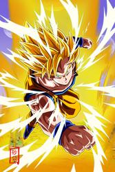 Goku SSJ2 Attack v1 by SnaKou