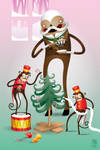 Drum Monkey Helpers by grelin-machin