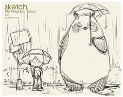 My Neighbor Macoc sketch by kirozeng