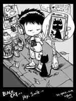 BlackCat , Hey,Smile.. by kirozeng