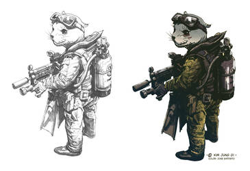Coloring Kim Jung Gi's Navy Seal by Lincelots