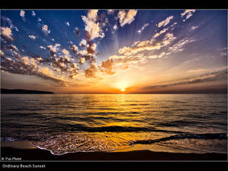 Ordinary Beach Sunset by Marcello-Paoli
