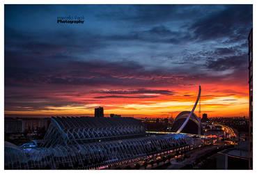 Valencia at Sunrise by Marcello-Paoli