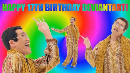 Happy 17th Birthday DeviantArt! by RussellIsCutie