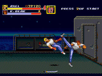 Streets of Rage 2 hack I'm working on by RussellIsCutie