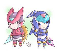 MMZ - Chibi Zero and Levi by Sting-Chameleon