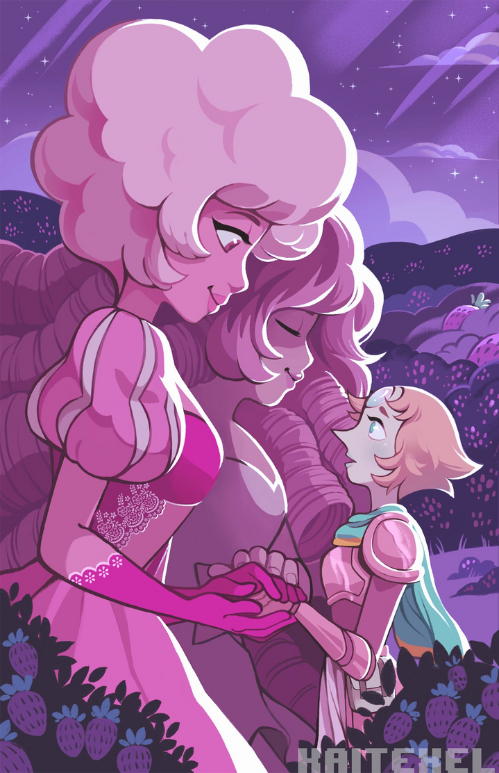 Pink/Rose/Pearl print I'll have for AnimeNEXT! I hope I see you there