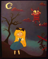 Alice and the Cheshire Cat by Morgan-Timblene