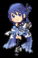 Kingdom Hearts - Aqua Chibi by Kanokawa