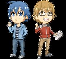 Bakuman - Mashiro and Takagi Chibis by Kanokawa