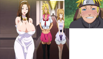 Hentai Co-Stars: Naruto, Erina, Kyouka, and Reona by Raptorcloak