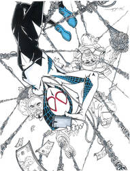 Spider-Gwen Print Color  by TravisMercer1017