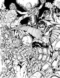 Teen Titans Print  by TravisMercer1017