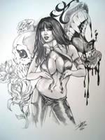 Vampirella Bites by D W Miller by ConceptsByMiller