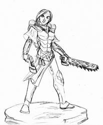 Sketch:  Sister of Battle by ArchiCrash
