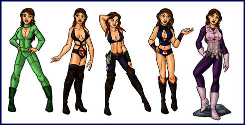 The Many Outfits of Stella Star by ArchiCrash