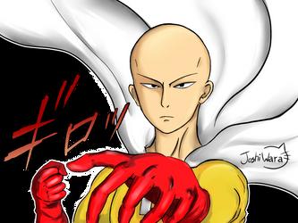 Saitama from one punch man fan art :D by joshiwara