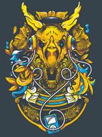 Golden TriceraPod by bogielicious