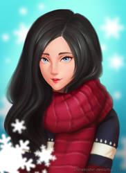 Winter Girl by shinekoshin