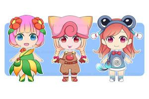 Pokemon Chibi Girls by shinekoshin