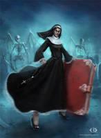 Commission: Nun by IcedWingsArt