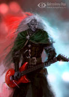 Drizzt the Metalhead by IcedWingsArt