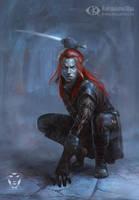 Dark Assassin by IcedWingsArt