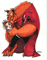 Beauty and the Beast by Bloodzilla-Billy